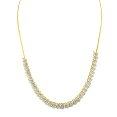 jcpenney.com | 1/2 CT. T.W. Diamond 14K Yellow Gold Over Sterling Silver Necklace