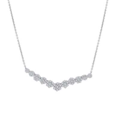 jcpenney.com | diamond blossom 3/4 CT. T.W. Diamond Cluster V Necklace