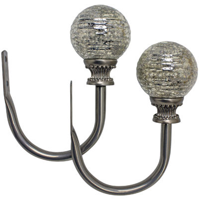 Bali® Mercury Glass Set of 2 Holdbacks