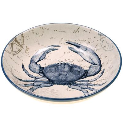Certified International Coastal Postcards Pasta Serving Bowl