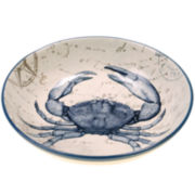 Certified International Coastal Postcards Pasta Serving Bowl