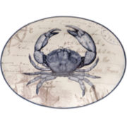 Certified International Coastal Postcards Oval Platter