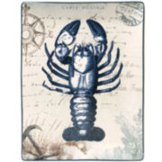 Certified International Coastal Postcards Lobster Rectangular Platter