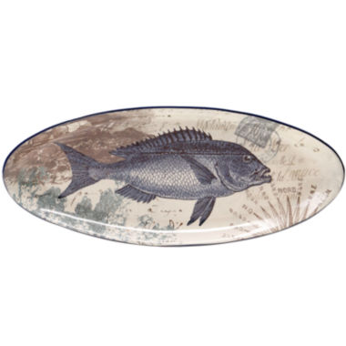 jcpenney.com | Certified International Coastal Postcards Fish Platter