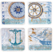 Certified International Mariner Set of 4 Dessert Plates