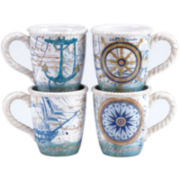Certified International Mariner Set of 4 Mugs