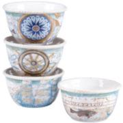 Certified International Mariner Set of 4 Ice Cream Bowls