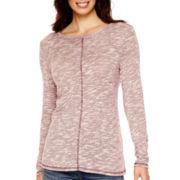 St. John's Bay® Long-Sleeve Textured Tunic