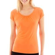 Worthington® Short-Sleeve Scoopneck Top
