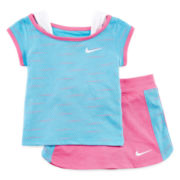 Nike® 2-pc. Knit Top and Skirt Set - Baby Girls 12m-24m