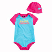 Nike® 2-pc. Bodysuit & Hat Gift Set - Girls newborn-12m