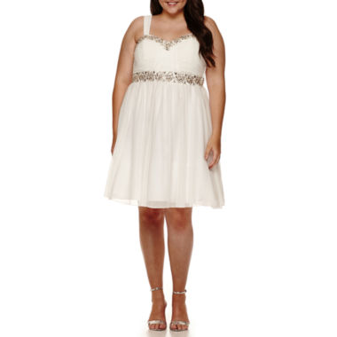 jcpenney.com | My Michelle® Sleeveless Beaded-Trim Party Dress - Juniors Plus