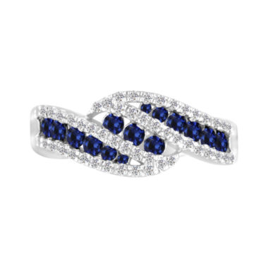 jcpenney.com | Sterling Silver Lab Created Blue Sapphire & Lab Created White Sapphire Ring