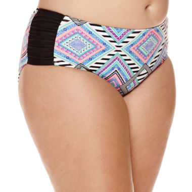 jcpenney.com | Arizona Diamond Geo-Print High-Waist Hipster Swim Bottoms - Juniors Plus