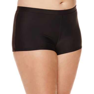 jcpenney.com | Arizona Black Swim Shorts - Juniors Plus