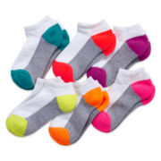 Xersion® 6-pk. Athletic No-Show Socks - Girls