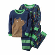 Carter's® 4-pc. Raglan-Sleeve Navy Bear PJ Set - Boys 4-8