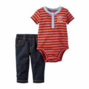 Carter's® 2-pc. Stripe Bodysuit and Pants Set - Baby Boys newborn-24m