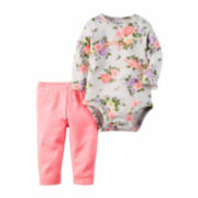 Carter's® 2-pc. Floral-Print Bodysuit and Pants Set - Baby Girls newborn-24m