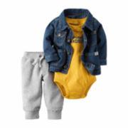 Carter's® 3-pc. Denim Jacket, Bodysuit and Pants Set - Baby Boys newborn-24m