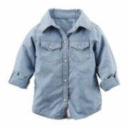 Carter's® Long-Sleeve Chambray Woven Top - Girls 4-8