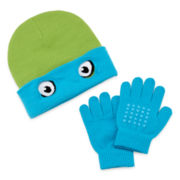 Teenage Mutant Ninja Turtles Leo Reversible Beanie & Glove Set - Boys