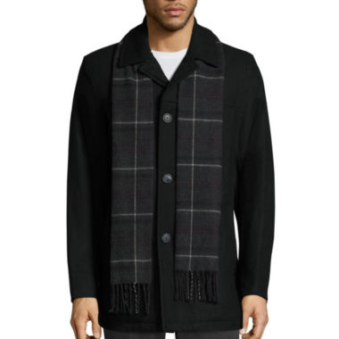 jcpenney.com | Dockers® Wool-Blend Walking Coat with Scarf