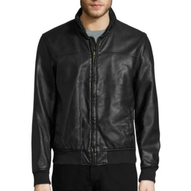 jcpenney.com | Dockers® Faux Leather Bomber