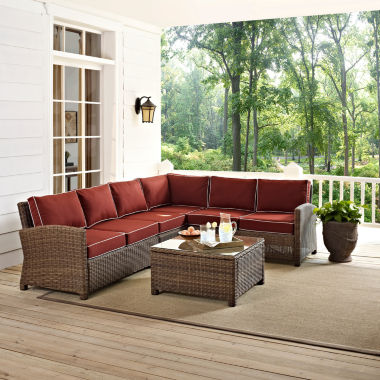 jcpenney.com | Bradenton Wicker 5-pc. Patio Lounge Set