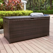 Palm Harbor Wicker Storage Bin