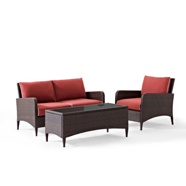 jcpenney.com | Kiawah Wicker 3-pc. Conversation Set