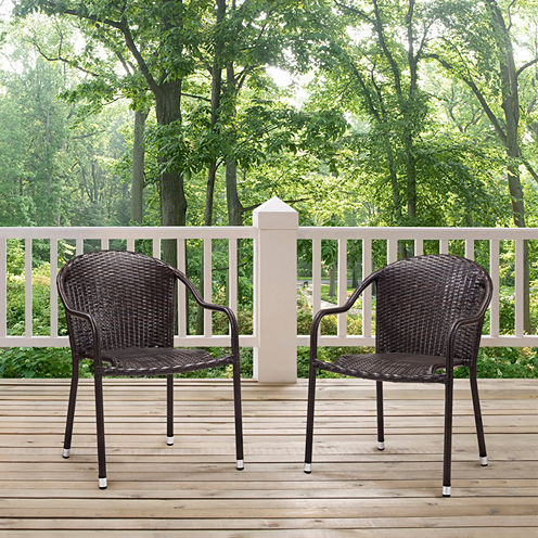 Crosley Palm Harbor Wicker 2-pc. Patio Dining Chair