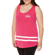 Chin Up Tank Top - Juniors Plus