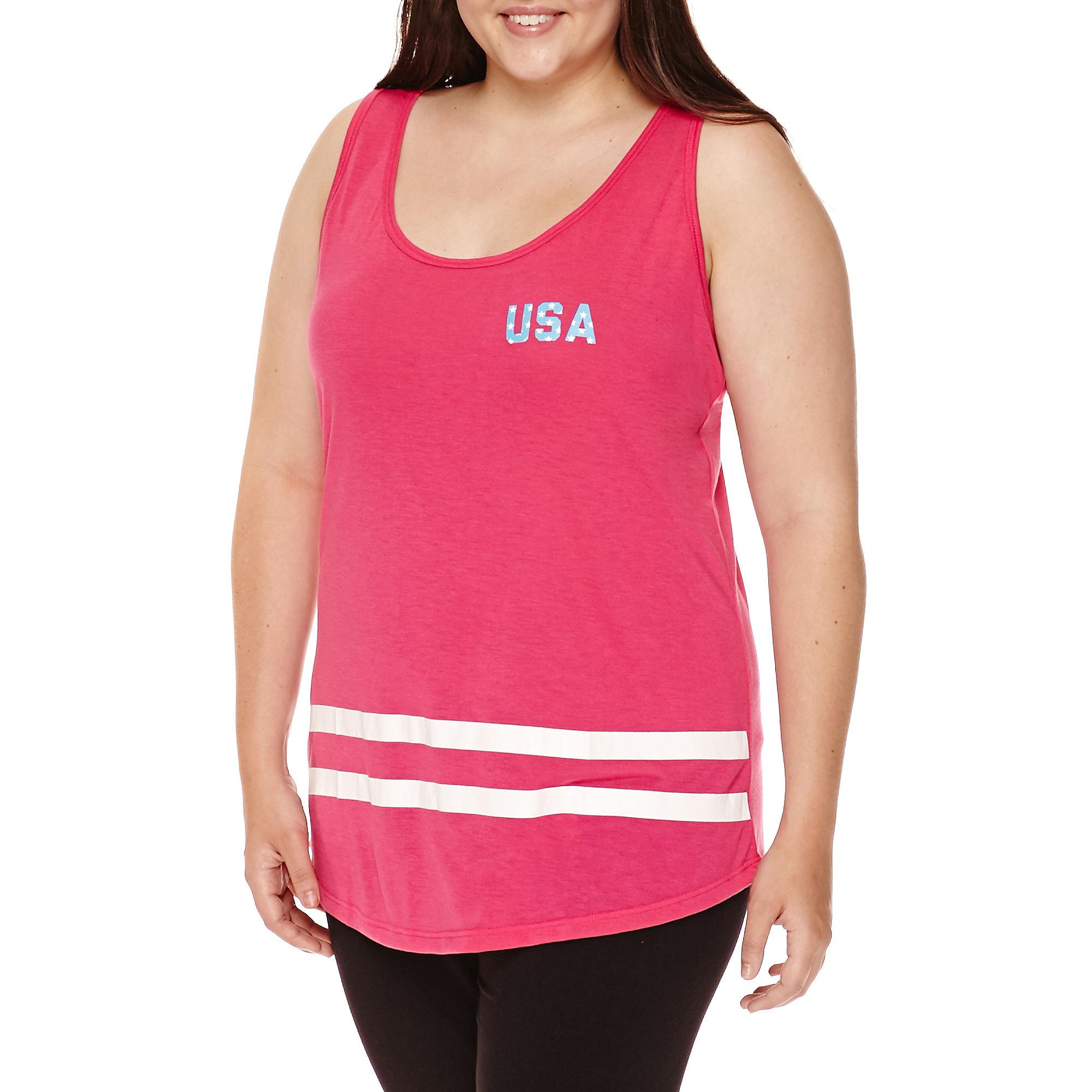 Chin Up Tank Top - Juniors Plus plus size,  plus size fashion plus size appare