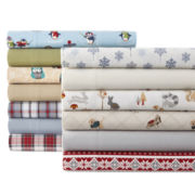 JCPenney Home™ Solid Flannel Sheet Set