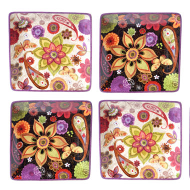 jcpenney.com | Certified International Coloratura 4-pc. Appetizer Plate