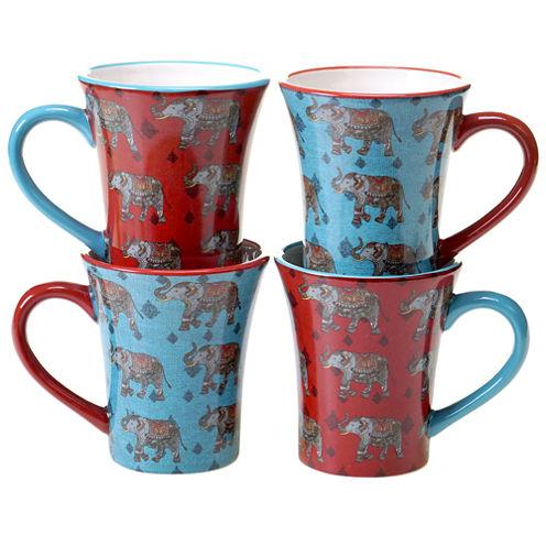 Certified International Spice Route 4-pc. Coffee Mug