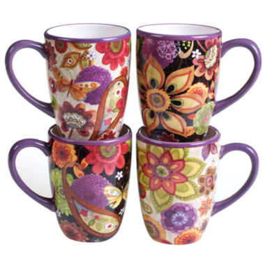 jcpenney.com | Certified International Coloratura 4-pc. Coffee Mug