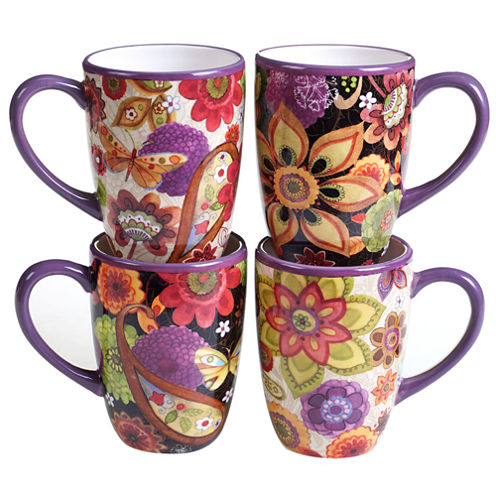 Certified International Coloratura 4-pc. Coffee Mug