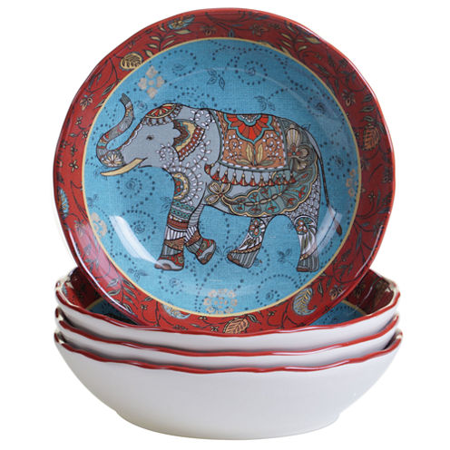 Certified International Spice Route 4-pc. Pasta Bowl