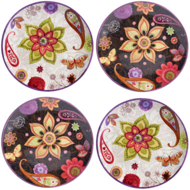 jcpenney.com | Certified International Coloratura 4-pc. Salad Plate