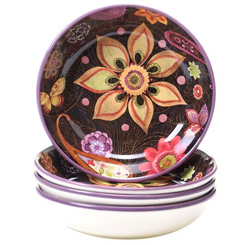 Certified International Coloratura 4-pc. Soup Bowl