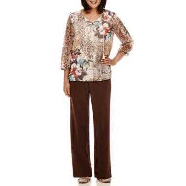 jcpenney.com | Alfred Dunner® Sante Fe 3/4-Sleeve Printed Tunic or Pants