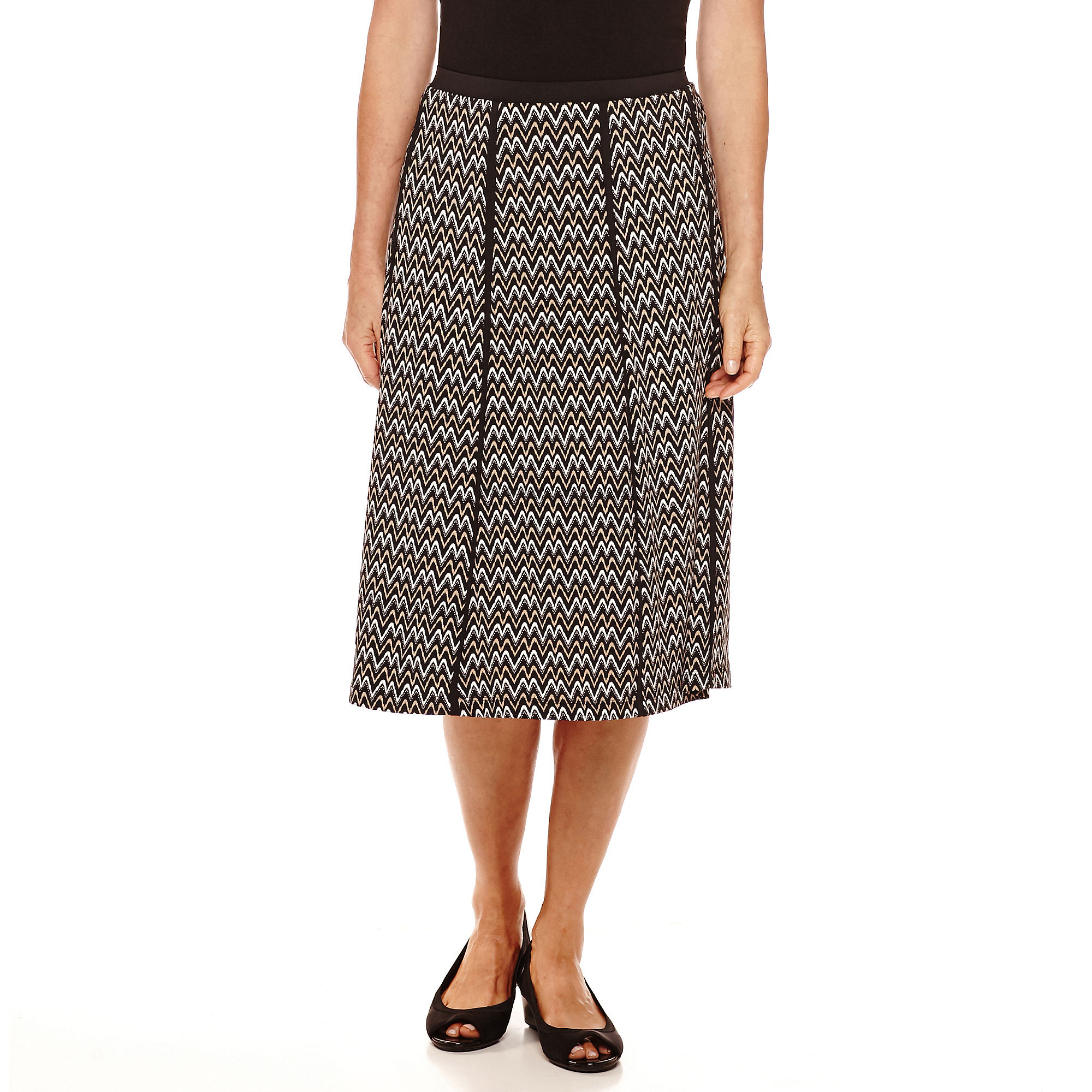 Alfred Dunner Madison Park Print Gore Skirt plus size,  plus size fashion plus size appare