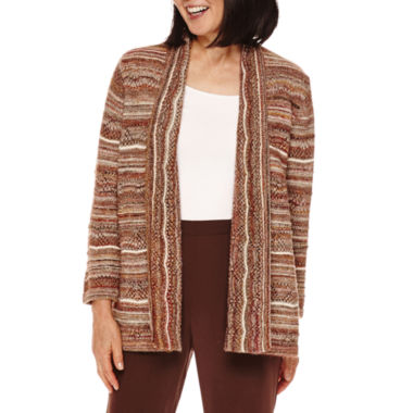 jcpenney.com | Alfred Dunner® Santa Fe Long-Sleeve Marled Cardigan