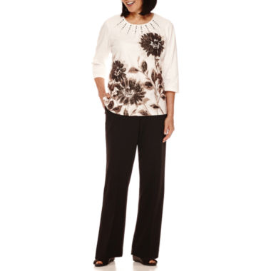 jcpenney.com | Alfred Dunner® Madison Park Floral Top or Pull-on Pants