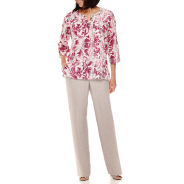 jcpenney.com | Alfred Dunner® Veneto Valley Scroll Print Tunic or Pants