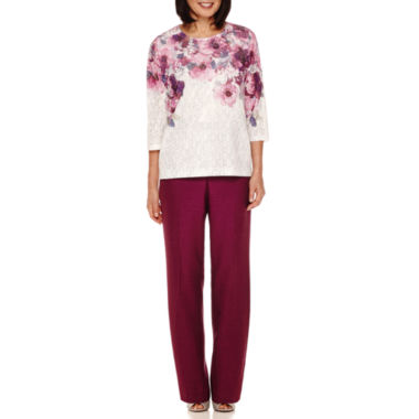 jcpenney.com | Alfred Dunner® Veneto Valley 3/4-Sleeve Yoke Top or Pants