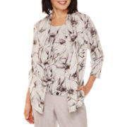 Alfred Dunner® Veneto Valley 3/4-Sleeve Floral Layered Top