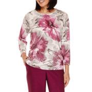 Alfred Dunner® Veneto Valley Shimmer Sweater - Petite